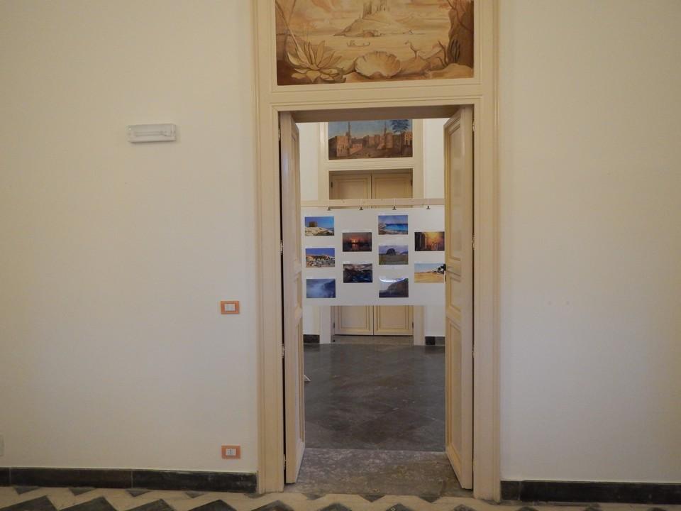 L'ingresso a una delle sale espositive.