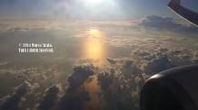 Alba sul mare in volo