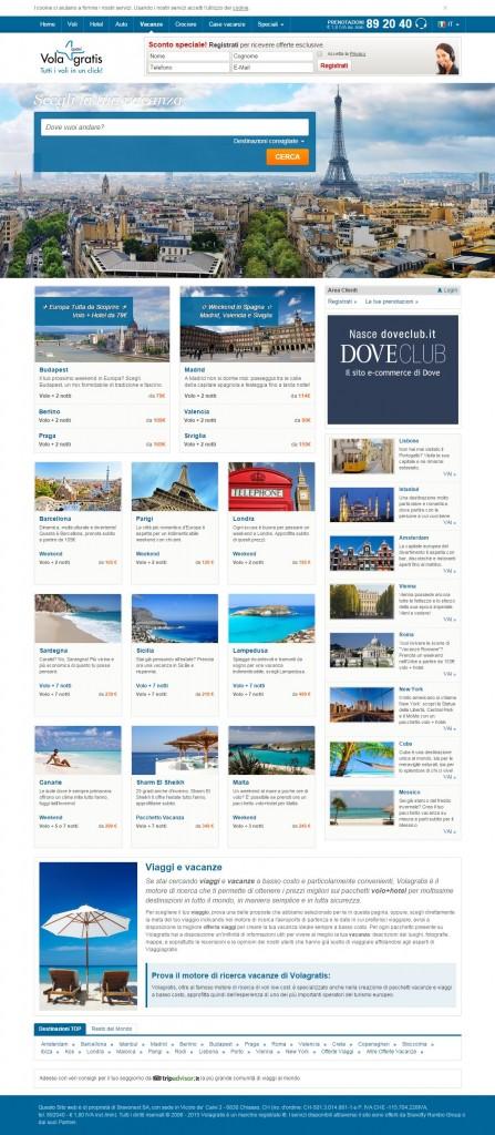 """""""Mondello dall'alto"""" pubblicata in home page del sito Vola Gratis"""