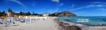 Panoramica sulla spiaggia di Mondello